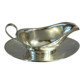 Sterling Silver Gravy Boat For Sale