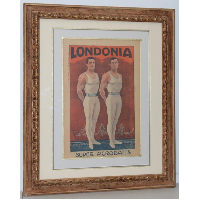 Londonia Super Acrobats Antique French Poster C.1900 For Sale - Image 10 of 10