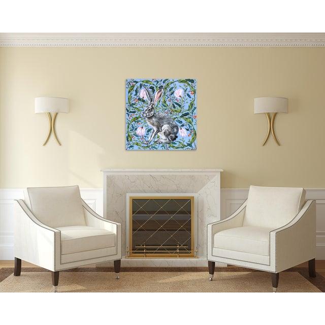 "Canvas ""Jack Rabbit"" Original Artwork by Naomi Jones For Sale - Image 7 of 9"