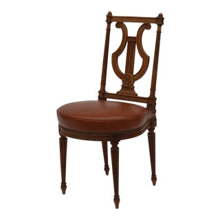 1940s Vintage Maison Jansen Style Neoclassical Side Chair For Sale