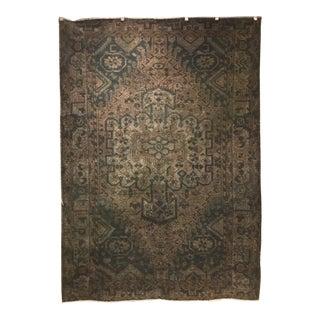 Dark Gray Overdyed Persian Carpet - 6′7″ × 9′4″ For Sale