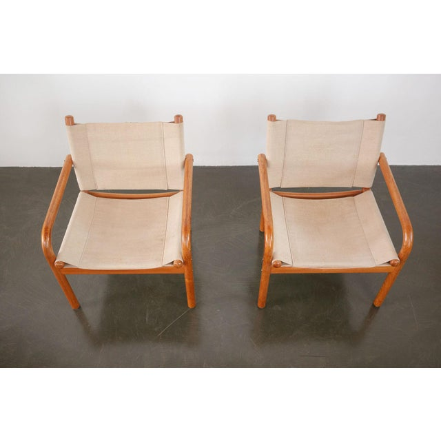 Mid-Century Danish Safari Chairs - A Pair For Sale In Seattle - Image 6 of 13