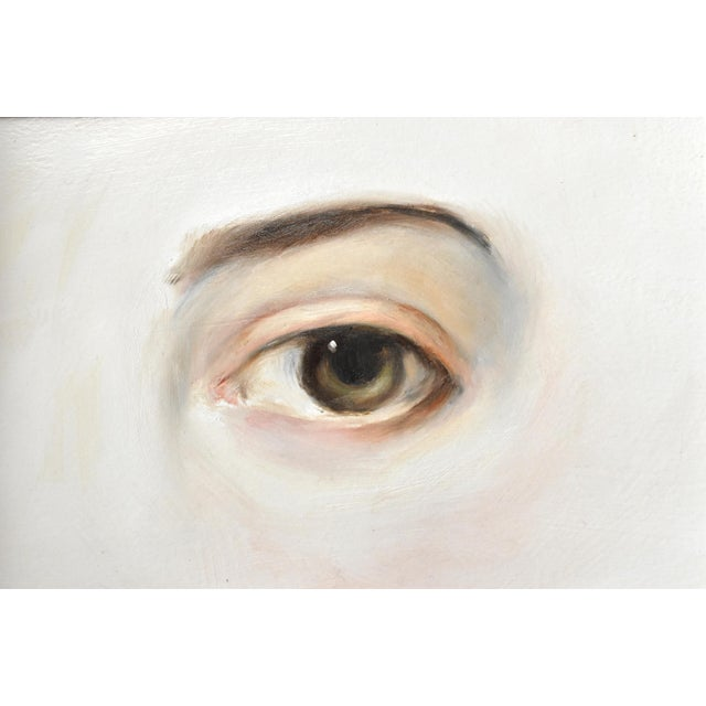Contemporary Contemporary Lover's Eye Painting by Susannah Carson in a Marbled Victorian Frame For Sale - Image 3 of 6