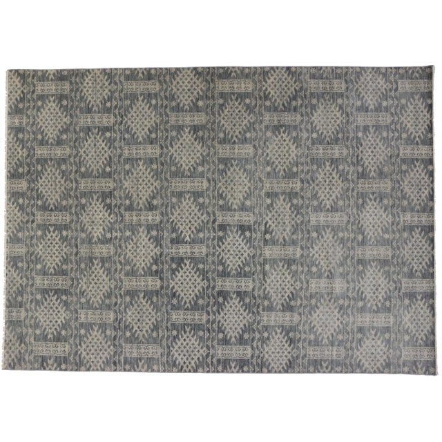 Transitional Gray Area Rug - 10' X 14' - Image 1 of 3