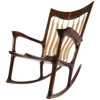 Rocking Chair, Handcrafted and Designed by Morten Stenbaek For Sale