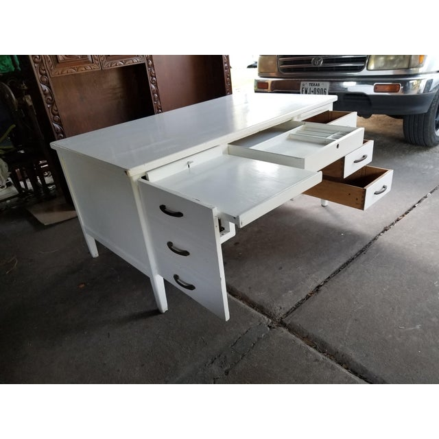 Mid Century Modern Style Executive Desk For Sale - Image 9 of 13