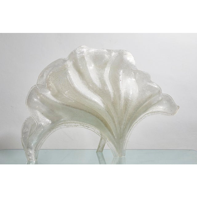 Rare Rougier Lucite Shell Lamp For Sale - Image 6 of 9