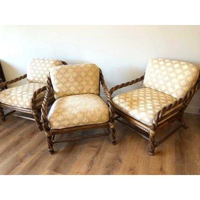 Vintage McGuire Braided Rattan Chair For Sale - Image 11 of 13