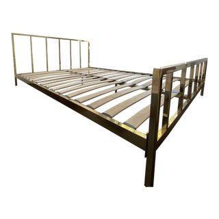 CB2 Alchemy Bronze Queen Bedframe For Sale
