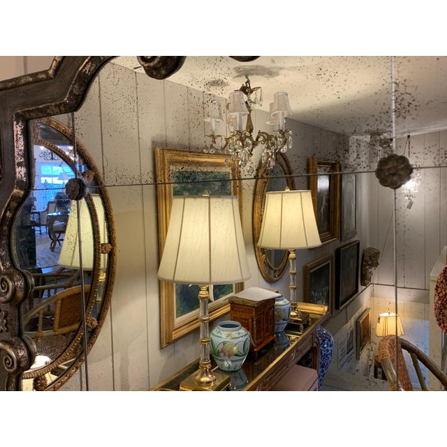 Black and Silvered Ghosted Aged Mirrors -A Pair For Sale In Philadelphia - Image 6 of 10