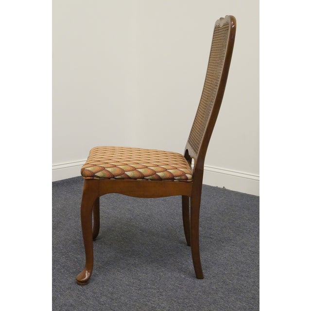 Late 20th Century Late 20th Century Vintage Georgetown Galleries Solid Cherry Cane Back Side Chair For Sale - Image 5 of 10