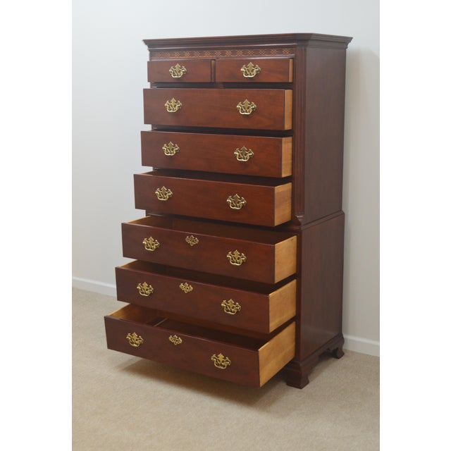 Chippendale Baker Mahogany Chest of Drawers For Sale - Image 12 of 13