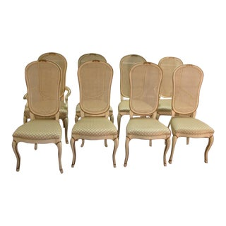John Stuart French Style Dining Chairs - Set of 8 For Sale