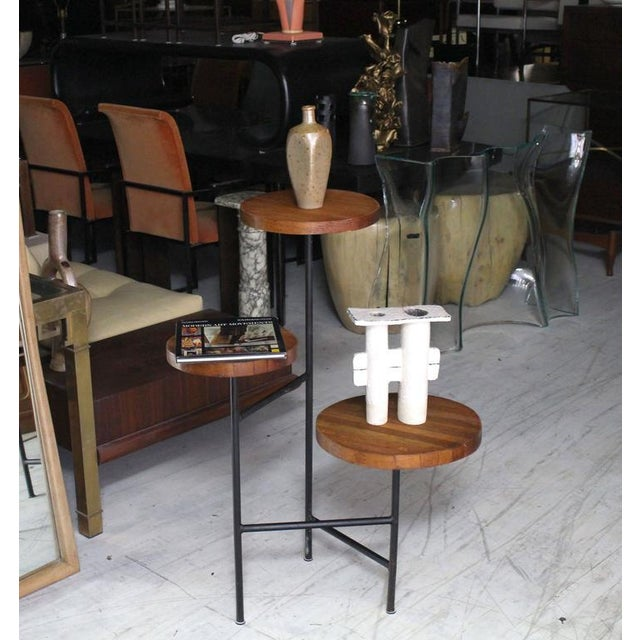 Tri Leg Three-Tier Side Display Table Planter For Sale - Image 4 of 8