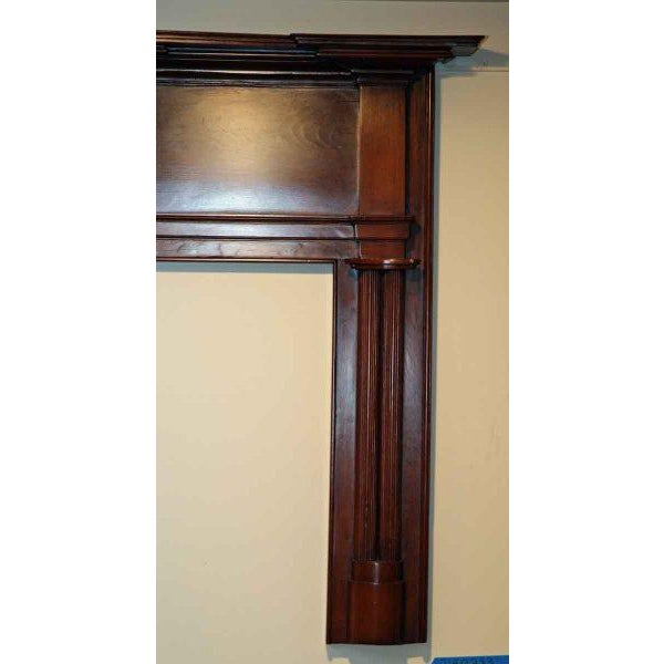 19th Century American Pine Wooden Mantel - Image 4 of 4