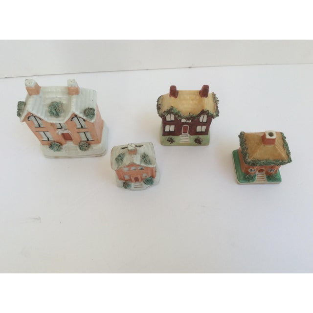 Staffordshire House Banks - Set of 4 For Sale - Image 4 of 9