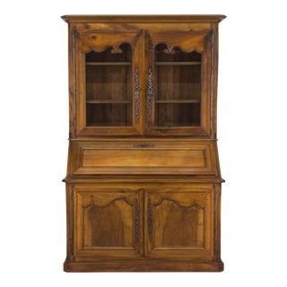 19th Century Louis XV Style Secretaire Bookcase For Sale