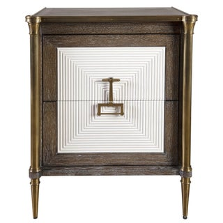 Cerused Oak and Brass Cabinet Preview