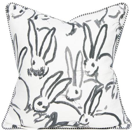 Lee Jofa for Groundworks Bunny Fabric Decorative Pillow For Sale In Portland, OR - Image 6 of 6