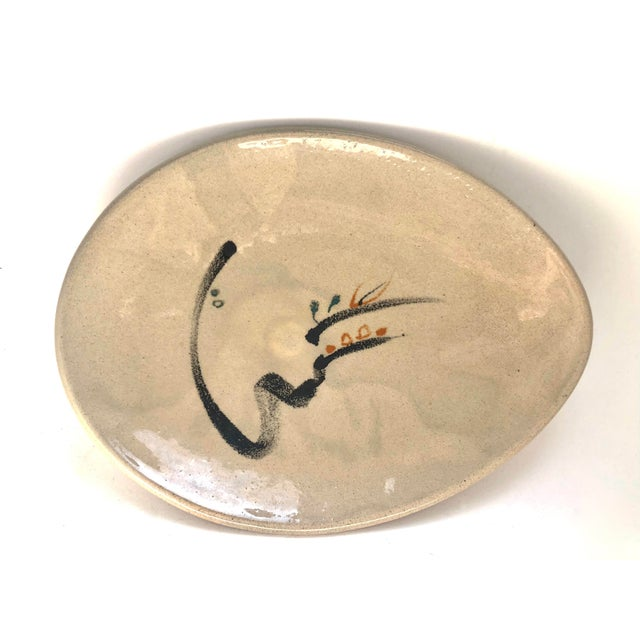 1950s 1950s Early Low Bowl by Noted Studio Potter, Minnie Negoro, Alfred University For Sale - Image 5 of 5