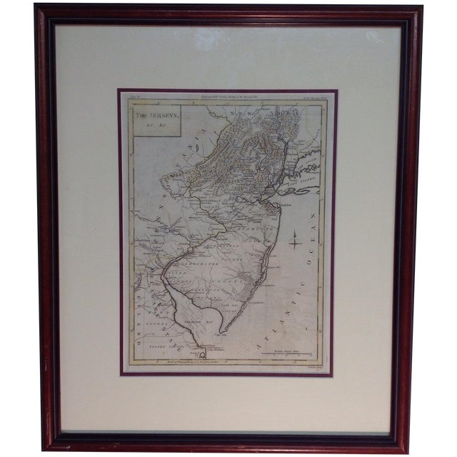 "1788 ""The Jerseys"" Hand Colored Engraved Map - Image 1 of 10"