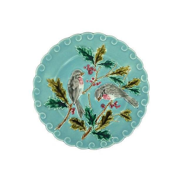 French Majolica Bird Plates - Set of 5 - Image 2 of 3