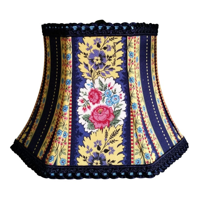 Vera Bradley Fabric Lampshade Hex Bell For Sale