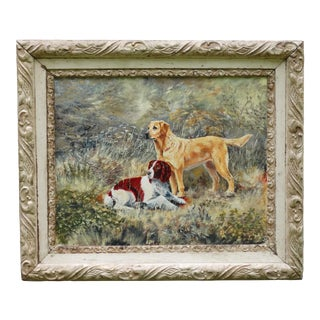 The Dogs' English School Oil Painting, Signed & Dated For Sale