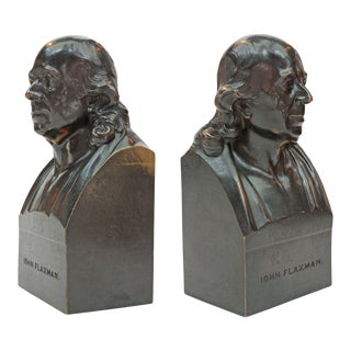 John Flaxman Bronze Portrait Bust by Samuel Parker after Samuel Joseph For Sale