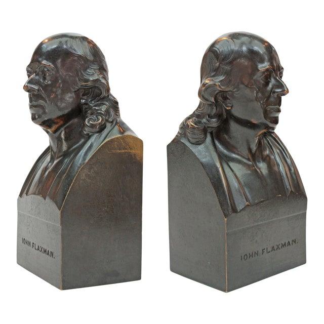John Flaxman Bronze Portrait Bust by Samuel Parker after Samuel Joseph For Sale