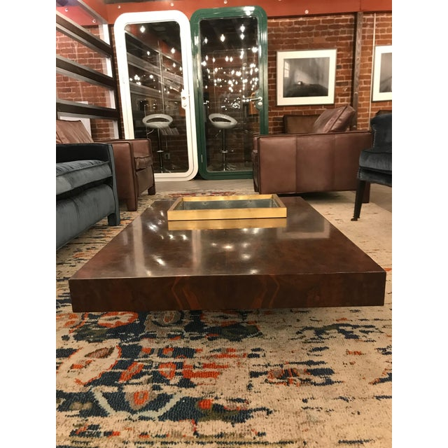 Three Tiered Burlwood Coffee Table For Sale - Image 4 of 8