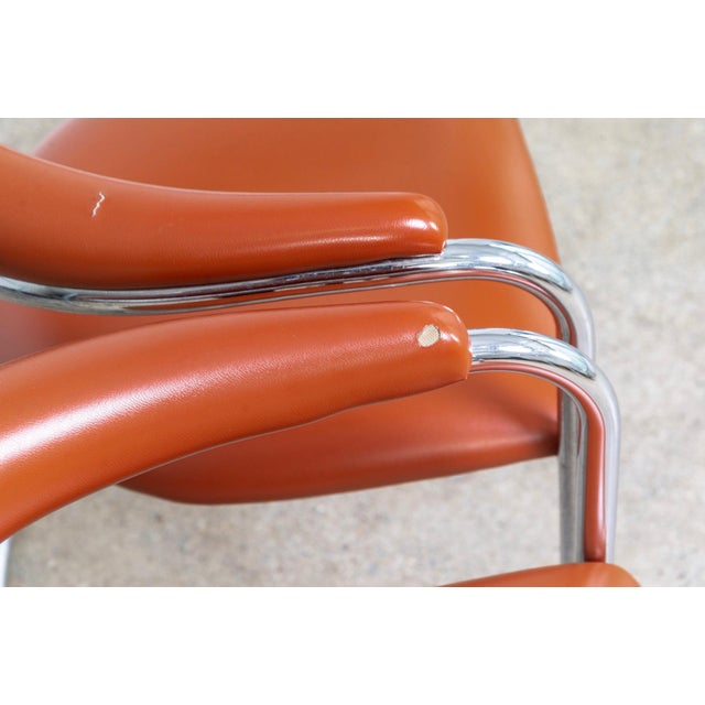 Mid Century Anton Lorenz Cantilever Chairs For Sale - Image 9 of 11
