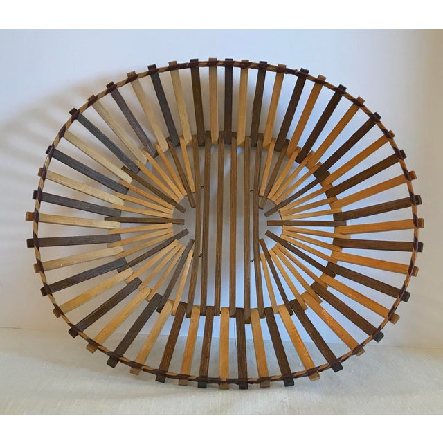 20th Century Boho Chic Two Color Stick Basket For Sale In Dallas - Image 6 of 7