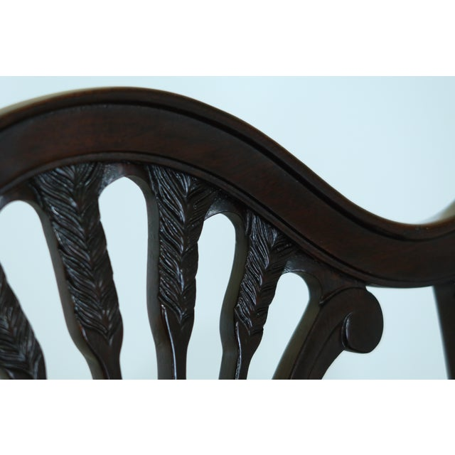 Stickley Stickley Shield Back Mahogany Dining Room Chairs - Set of 6 For Sale - Image 4 of 13