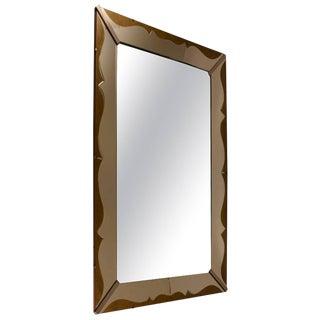 Art Deco Venetian Style Mirror With Decorative Églomisé Trim For Sale