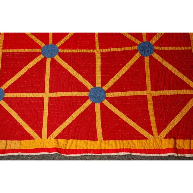 Folky and Early 20th Century Afro-American Quilt from Alabama For Sale In Los Angeles - Image 6 of 7