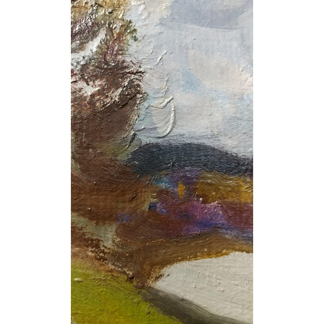 """Paint Alex Eremin """"Autumn Day at the Marina""""- Landscape Oil Painting For Sale - Image 7 of 11"""