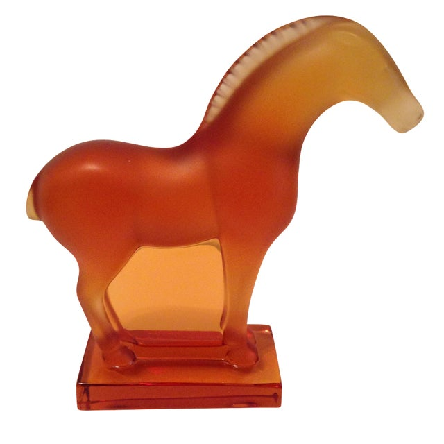 Lalique Amber Tang Horse For Sale