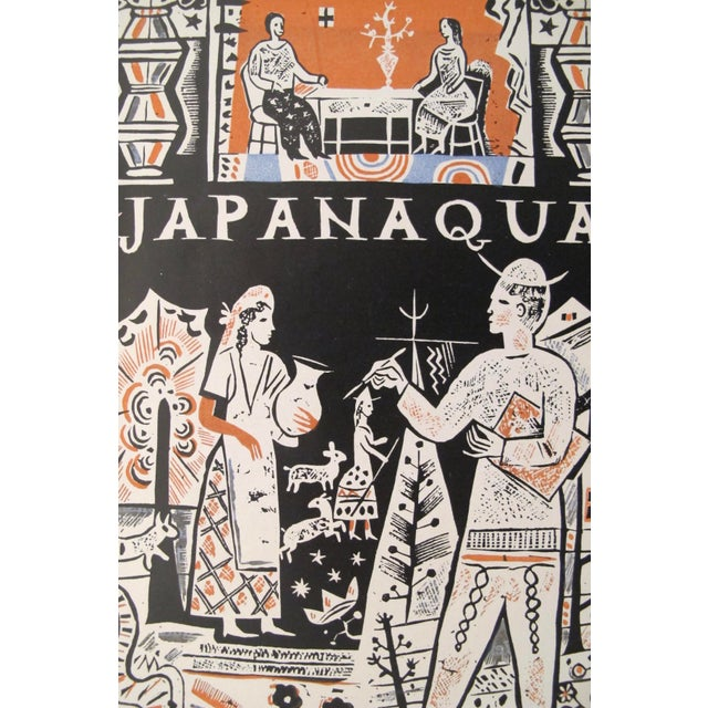 1927 German Art Deco Mini Poster, Japanaqua For Sale - Image 4 of 5