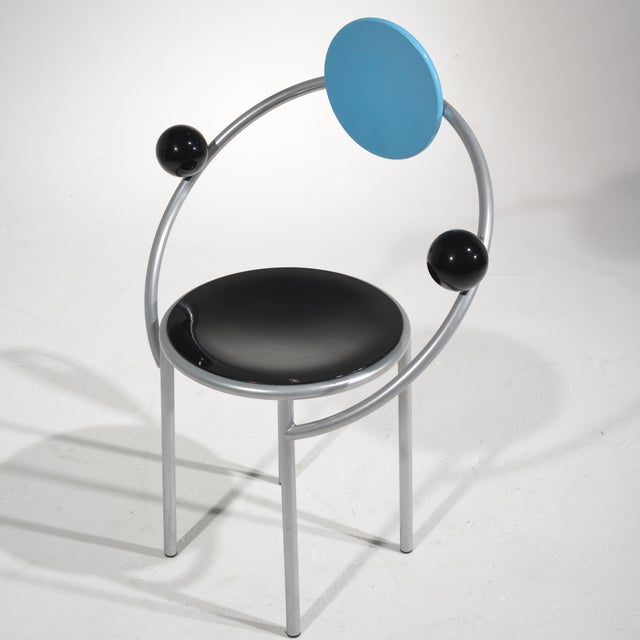 Metal Michele De Lucchi First Chair for Memphis, Milano For Sale - Image 7 of 13
