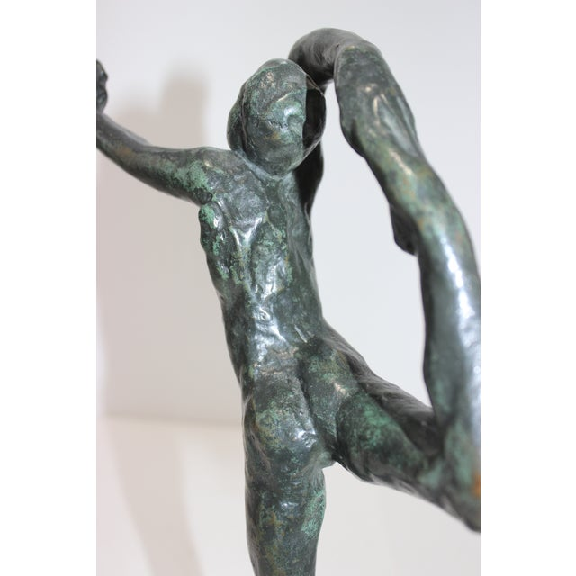 Vintage Auguste Rodin Style Bronze Sculpture of a Dancer For Sale - Image 10 of 12