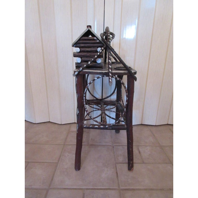 Tramp Art Twig Smoking Table For Sale - Image 4 of 11