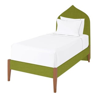 The Crown Bed - Twin - Charlotte - Como, Kelly Green For Sale