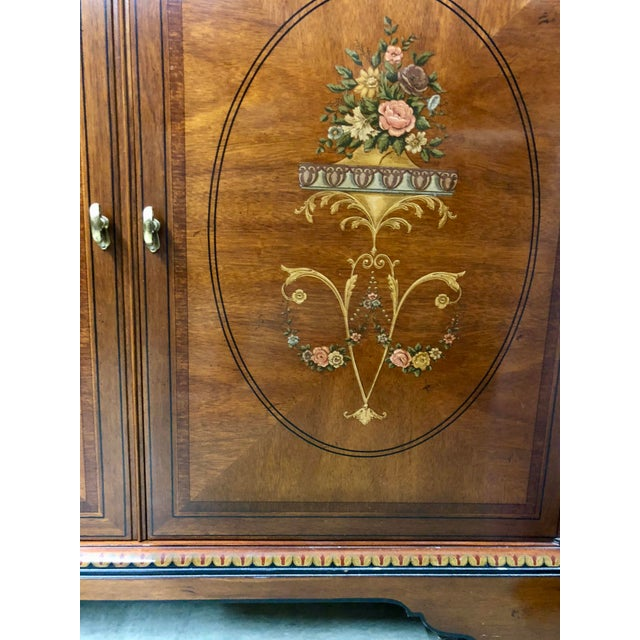 Drexel Heritage Vintage Drexel Heritage French Country Armoire For Sale - Image 4 of 9