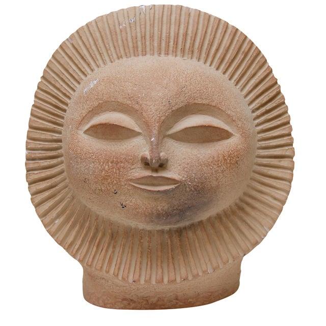 Mid-Century Sun Face Sculpture For Sale