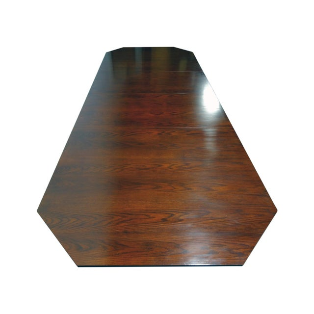 Brown EJ Victor Transitional Double Pedestal Dining Table For Sale - Image 8 of 11