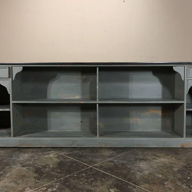 Black 19th Century Painted Store Counter For Sale - Image 8 of 9