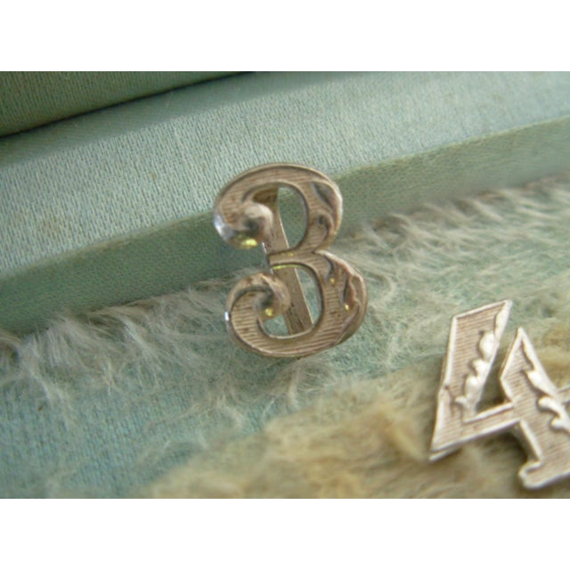 Silver Antique Sterling Silver Numbers Drink or Napkin Markers For Sale - Image 8 of 11