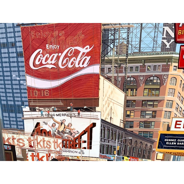 1987 Nyc- Times Square Pop Art Original Painting by Matthew Popielarz For Sale In West Palm - Image 6 of 11