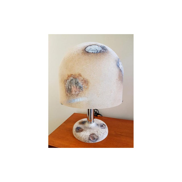 Late 20th Century Pair of Alfredo Barbini Murano Glass Lamps For Sale - Image 5 of 6